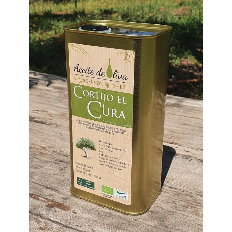 Aceite de oliva Lata 1 litroAceite de oliva virgen extra ecológico Cortijo El Cura lata 1 litro