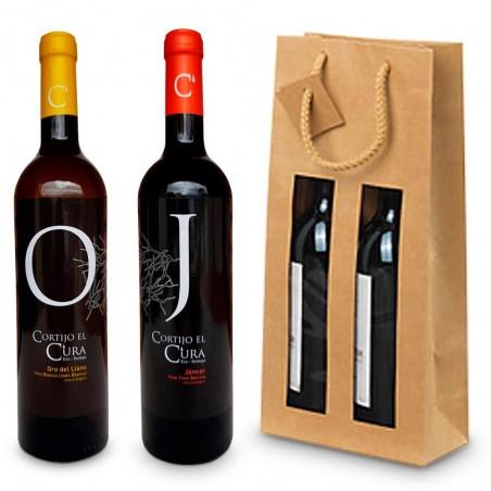 Bolsa de vino para regalar vino blanco y vino tinto crianza