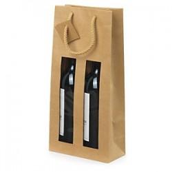 2 bottles kraft paper bag