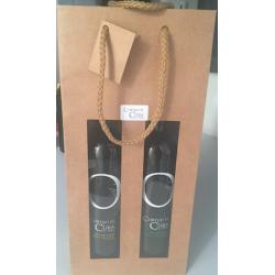 Bolsa para 2 botellas de papel kraft marrón