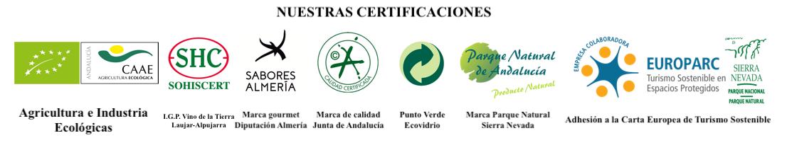 Certificaciones de los productos y visitas de Cortijo El Cura Eco-Bodega.
